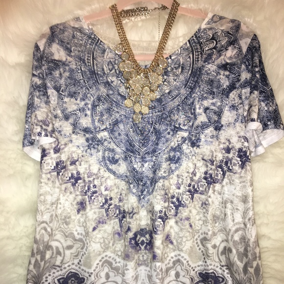 Time and Tru Tops - Time True Rhinstone Blouse